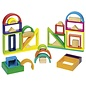 Goki Wooden Rainbow Coloured Window Blocks by Goki
