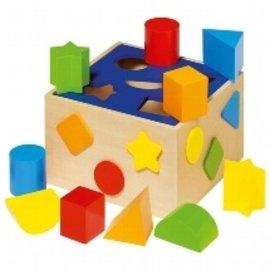 Goki Wooden Shape Sorter Box