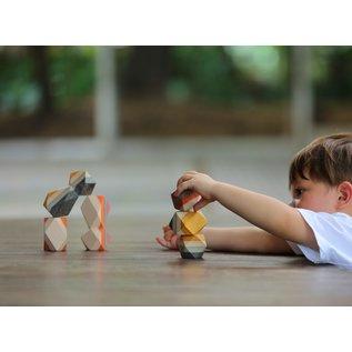 Plan Toys Geo Stacking Rocks by Plan Toys