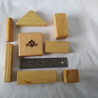 Wood Building Blocks Set (Made in Canada)