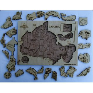 Map of Canada Wooden Puzzle