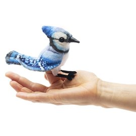 Folkmanis Puppets Mini Blue Jay Finger Puppet by Folkmanis