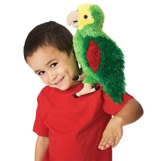 Folkmanis Puppets Amazon Parrot Hand Puppet