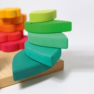 Grimms Stacking Various Shapes on 4 Pegs by Grimms