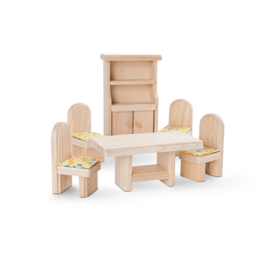 Plan Toys Dining Room - Classic Dollhouse Furniture Set by Plan Toys