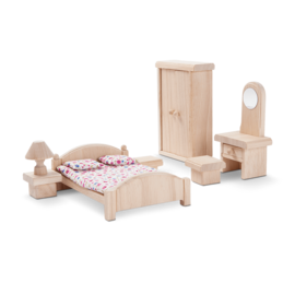 Plan Toys Bedroom - Classic Dollhouse Furniture Set by Plan Toys