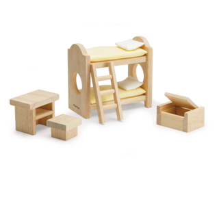 Plan Toys Children's Room - Classic Dollhouse Furniture Set by Plan Toys