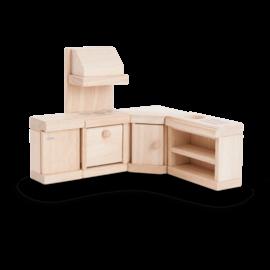 Plan Toys Kitchen - Classic Dollhouse Furniture Set by Plan Toys