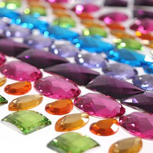 Grimms Giant Acrylic Glitter Stones (140 piece Set) by Grimms