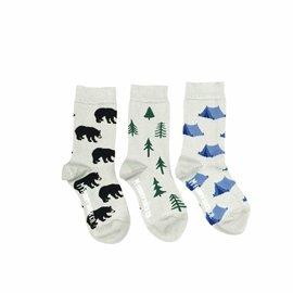 Friday Sock Co Organic Cotton 'Tent, Tree, Bear' Socks by Friday Sock Co