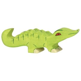 Holztiger Wooden Crocodile Figure by Holztiger (2 Sizes - Sold Individually)