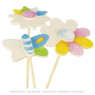 Goki Spring Flower Pot Decor Sticks (to be painted/decorated)