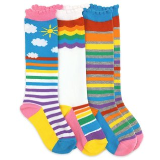 Jefferies Rainbow Knee High Socks