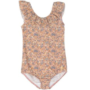 WHEAT KIDS 'Marie-Louise style' One Piece Swim Suit, Flowers & Seashells Print by Wheat