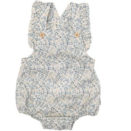 WHEAT KIDS 'Freja Style' Summer Romper Ivory Flowers Print by Wheat