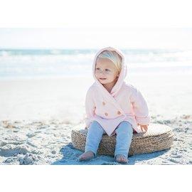 Beba Bean Pink Crochet Knit Hoodie by Beba Bean