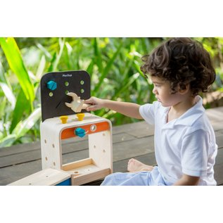 Plan Toys Wooden Tools Workbench by Plan Toys