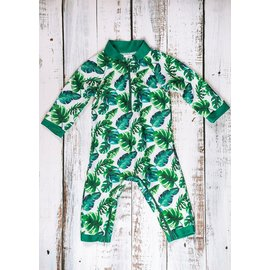 Honeysuckle 'Ferntastic' Print UV Protection One Piece Suit