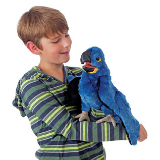 Folkmanis Puppets Blue Macaw Hand Puppet