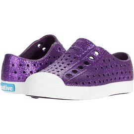 Native Jefferson Bling Crystal (Purple)/ Shell White Native Shoes