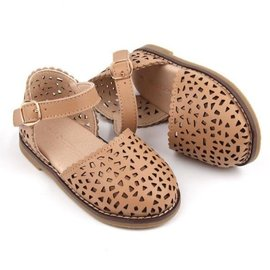 Consciously Baby Handmade Tan Leather Pocket Sandals by Consciously Baby