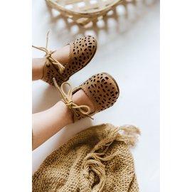 Consciously Baby Handmade 'Sand' Leather Boho Mary Jane Shoe by Consciously Baby