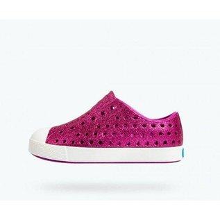 Native Jefferson Bling Origami (Fuchsia)/ Shell White Native Shoes