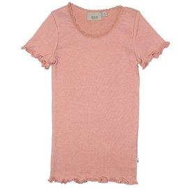 WHEAT KIDS Rib Lace T-Shirt Short Sleeve by Wheat Kids
