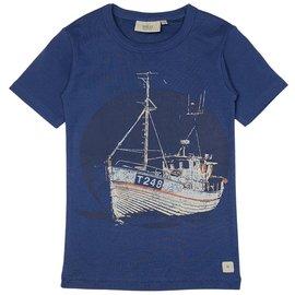 WHEAT KIDS Fishing Boat T-Shirt by Wheat Kids