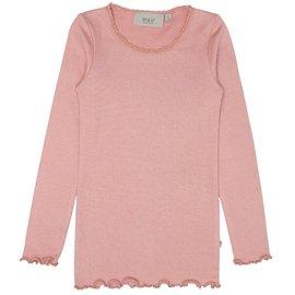 WHEAT KIDS Rib Lace T-Shirt Long Sleeve by Wheat Kids