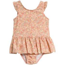 WHEAT KIDS Lemon Curd Flowers Print, 'Diddi' Style Little Swim Suit by Wheat