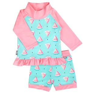 Jan & Jul by Twinklebelle Watermelon Print, Sun & Splash 2 Piece UV Protection Swim Suit by Jan & Jul