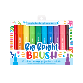 Ooly Big Bright Brush 10 Colours by Ooly