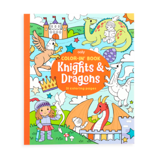 Ooly Knights & Dragons Colour In Book by Ooly