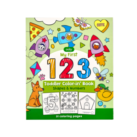 Ooly Shapes and Numbers Toddler Colouring Book