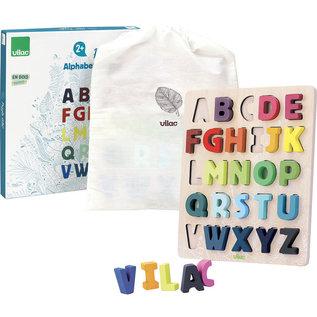 Vilac ABC Alphabet Shape Puzzle to Sort