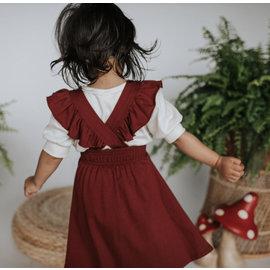 Kindred Studio Ruffle Pinafore Bamboo/Cotton Dress