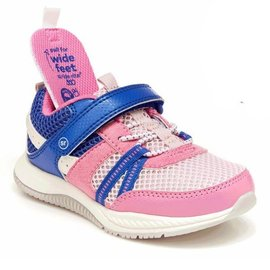 Stride Rite 'Blitz' Style Pink/Light Blue Sneaker by Stride Rite (Wide Fit Option)