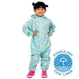 Jan & Jul by Twinklebelle Unicorn Puddle-Dry Waterproof Play Suit by Jan & Jul