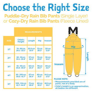 Jan & Jul by Twinklebelle Cozy-Dry  Waterproof Bib Rain Pants by Jan & Jul