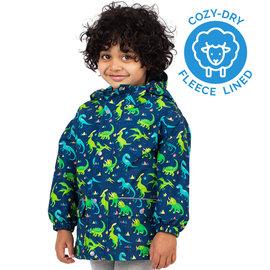 Jan & Jul by Twinklebelle Dinosaur Print Fleece Lined Rain Jacket by Jan & Jul