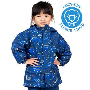 Jan & Jul by Twinklebelle Constellations Print Fleece Lined Rain Jacket by Jan & Jul