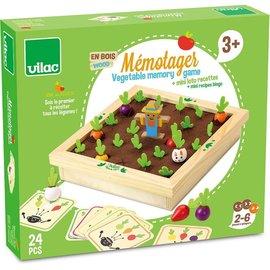 Vilac Wooden Vegetable Garden Memory Game