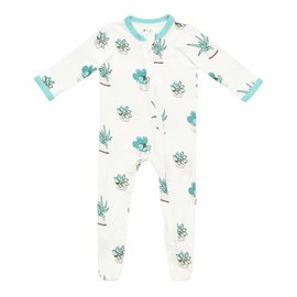 Kyte Baby Succulent Print Zippered Bamboo Footie by Kyte Baby