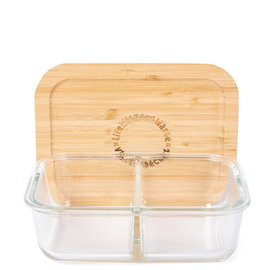 Bentgo Life Without Waste Divided Glass Lunch Container Small 580ml