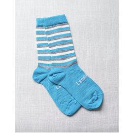 Lamington Sky Print Merino Wool Crew Length Socks