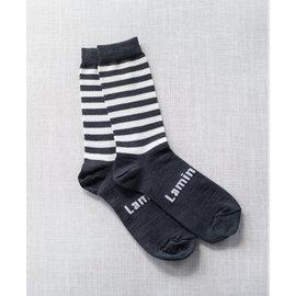 Lamington Slate Print Merino Wool Crew Length Socks