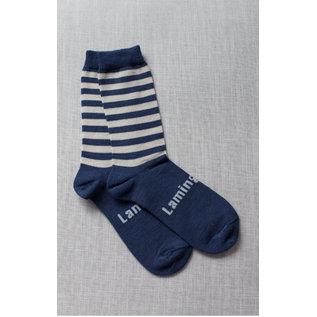 Lamington Cove Print Merino Wool Crew Length Socks