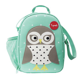 3 Sprouts 3 Sprouts Insulated Owl Lunch Bag