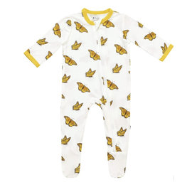 Kyte Baby Monarch Print Zippered Bamboo Footie by Kyte Baby
